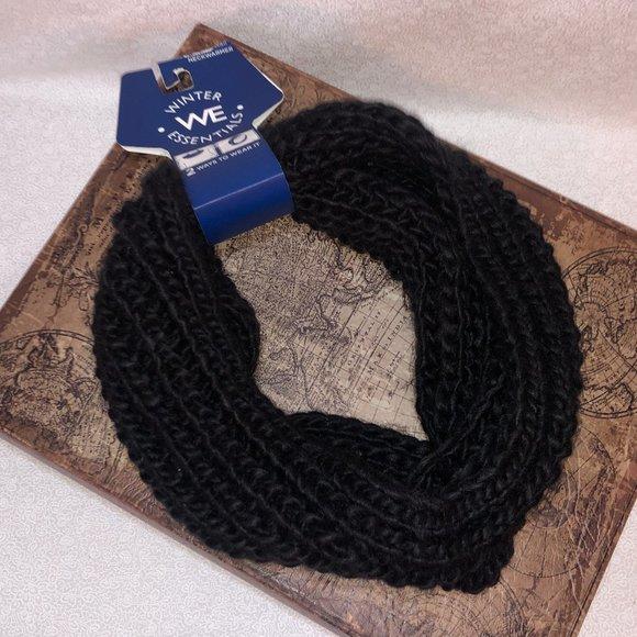 Black Knit Neckwarmer/Headwrap